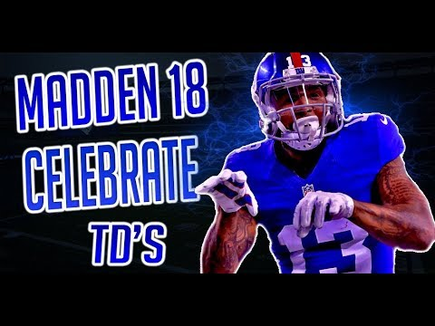 HOW TO CELEBRATE/ TAUNT TOUCHDOWNS IN MADDEN 18 PS4 PRO GAMEPLAY