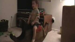 Jumpin' Cole- Riding His Rocking Horse
