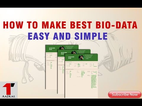 How to Make Easy and Simple  BioData . Get it Best Bio-data Free In 5 minutes .