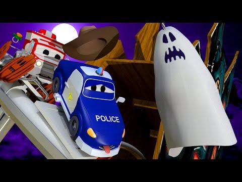 De spooktrein - Bouwgroep - Bouwplaats autos cartoon - Autostad