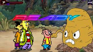 Mugen Request Ed Edd n Eddy vs Cuphead Bosses
