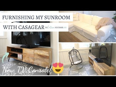 Furnishing Our Sunroom with Casagear - New TV Console