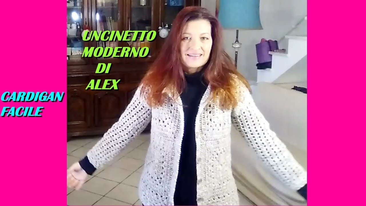 Cardigan Alluncinetto Super Facile Tutorial Ogni Taglia Youtube