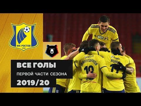 Все голы ФК «Ростов» в первой части сезона РПЛ 2019/20