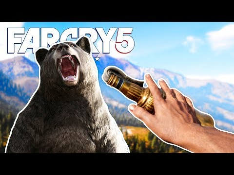 FAR CRY 5 Funny Moments Gameplay - Mountain Outpost, Bear Fights and Customized Vehicles!