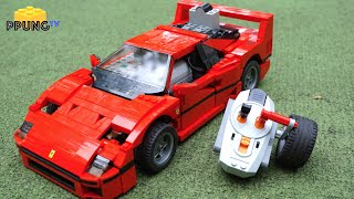 LEGO 10248 Ferrari F40 - RC motorized F40 review by 뿡대디