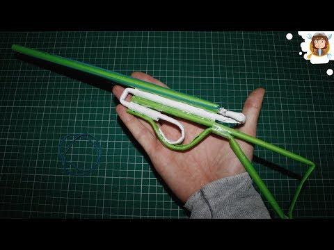 Paper Gun that Shoots 2 Rubber Bands -...