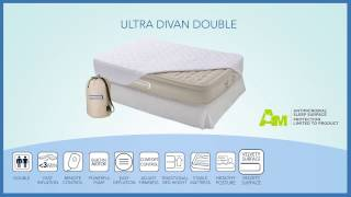 video aerobed ultra divan double airbed