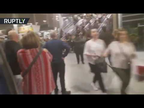 Crowds flee Manchester arena after terrorist attack, at least 19 killed & 50 injured