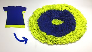 ✅ Clever Sewing Tips and Tricks to Make Doormat from Old T-shirts/DIY Doormat