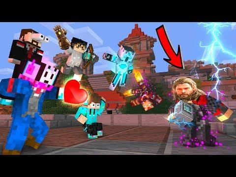 Para Youtuber Melawan THOR TERKUAT di Sans SMP - Minecraft Animation Indonesia
