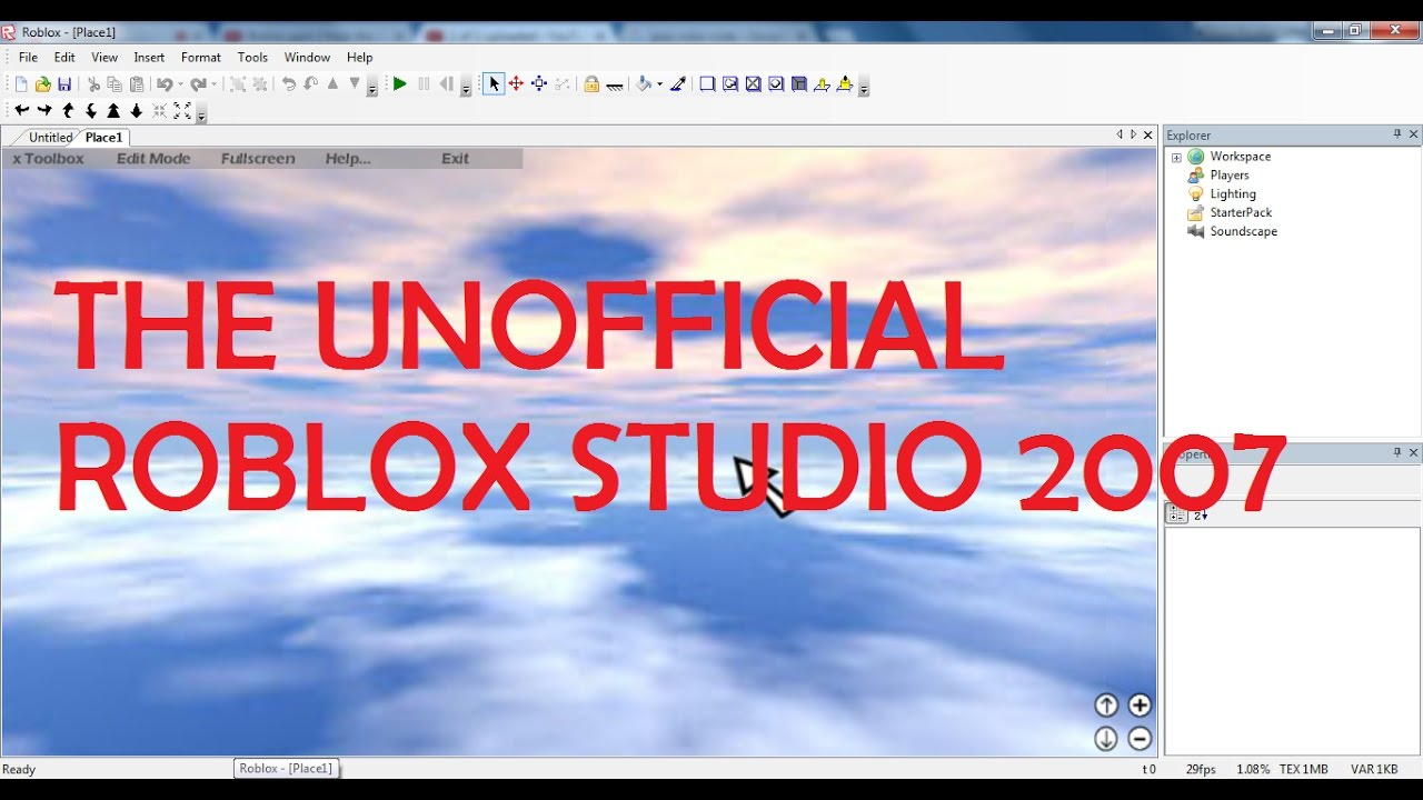 The most accurate ROBLOX Studio 2007 ever! (OUTDATED)