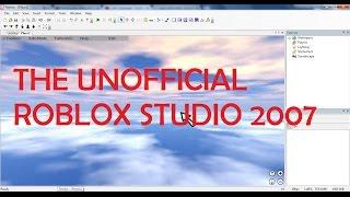 O mais preciso ROBLOX Studio 2007 Ever! DESATUALIZADOS