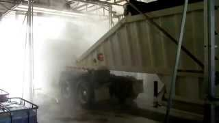 Pack Mule Belly Dump Trailer - Cleaned by HCS's Automated Truck Wash