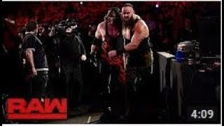 Braun Strowman crushes Kane underneath the announce team stage: Raw, Jan. 29, 2018