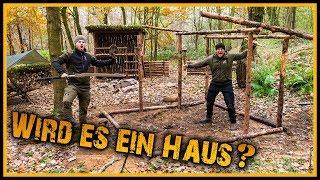 Bushcraft Camp [S05/E10] Wird es ein Haus? - Outdoor Bushcraft Lagerbau