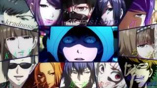 Gambar cover Tokyo Ghoul all Characters singing Opening song Unravel TK from Ling Tosite