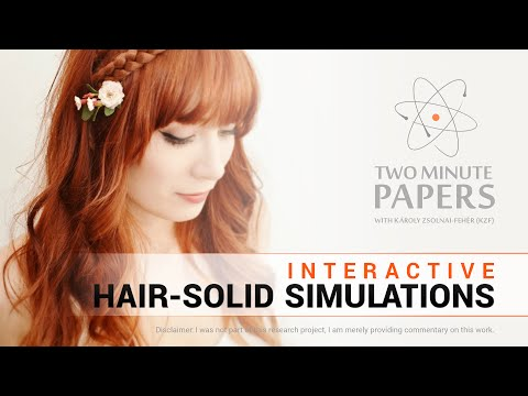 Interactive Hair-Solid Simulations | Two Minute Papers #90