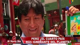 Perú se ubica como el cuarto país más ignorante del planeta