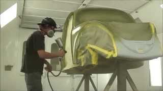 Painting The Bug - 1955 Cal Look Gasser Style Bug Gets Full Rotisserie Paint Job