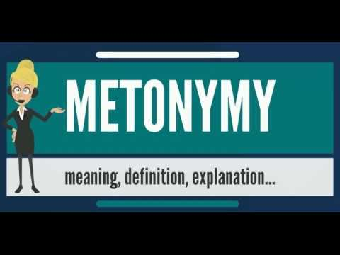 What is METONYMY? What does METONYMY mean? METONYMY meaning, definition & pronunciation