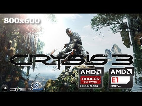 Crysis 3 On Amd E1 2500 With Amd Radeon Hd 8200 In Low End Notebook Youtube