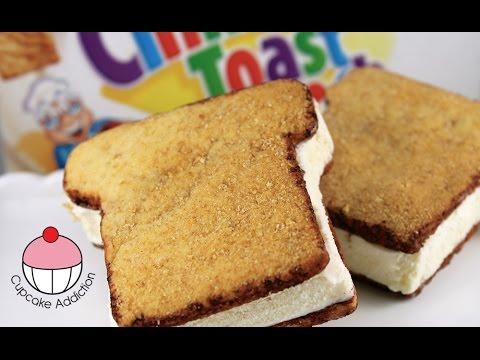 Cinnamon Toast Ice Cream Sandwiches - Recipe & How To with Cupcake Addiction