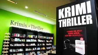 Krimi & Thrillerabteilung in der Buchhandlung Lüthy