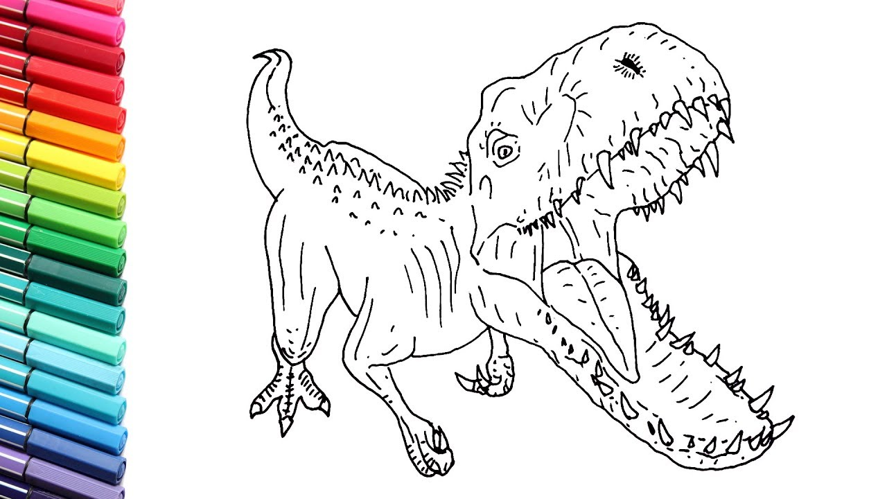 How To Draw Indominus Rex Dinosaur From Jurassic World