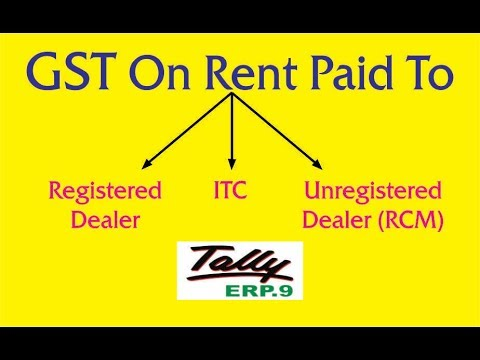 GST On Rent Paid ( Registered & RCM)  & ITC Adjustment Entries In Tally ERP.9