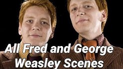 All Fred and George Weasley Scenes from the Harry Potter movie series