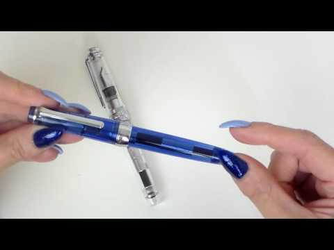 Sailor Pro Gear Slim Fountain Pen Review - Sky & Transparent (F & M nibs)