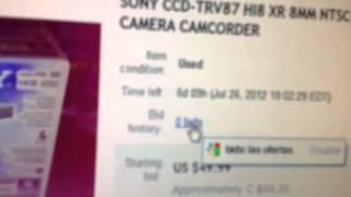 My next camera- Sony handycam vision ccd- trv87