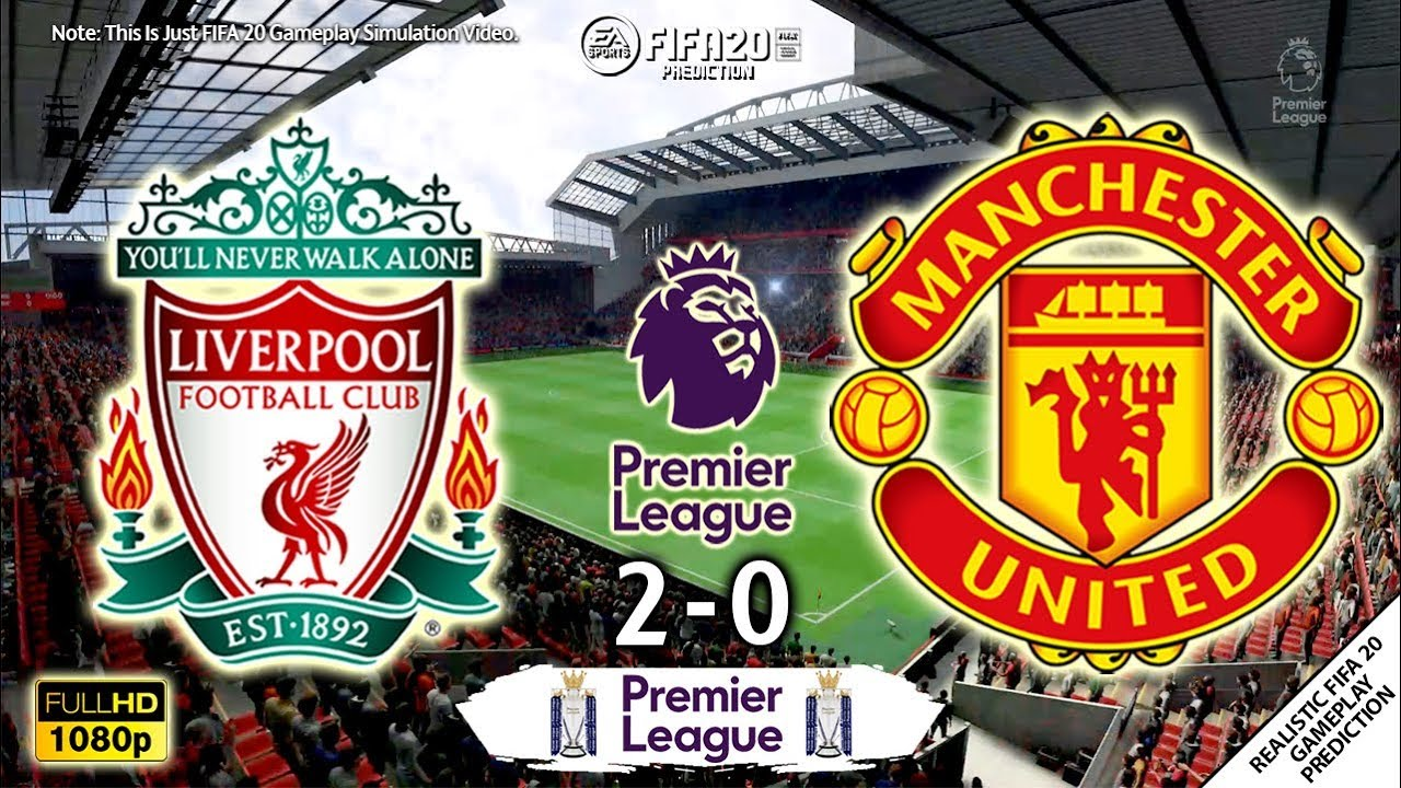 Liverpool vs Manchester United 2-0 | Premier League 2019/20 | 19/01/2020 | Matchday 23 | FIFA 20 Sim