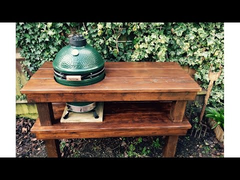 Big Green Egg DIY Table Project Timelapse