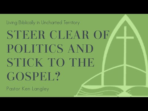 Steer Clear of Politics and Stick to the Gospel?