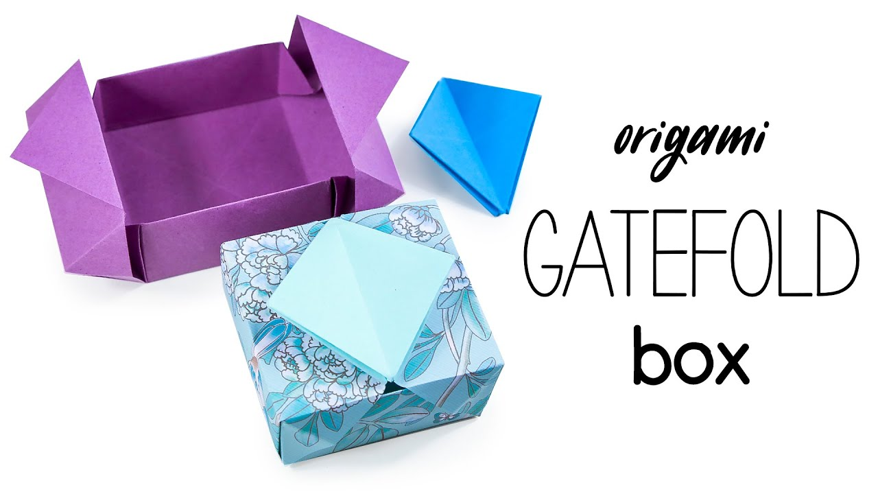 Origami Gatefold Box Instructions Tutorial DIY