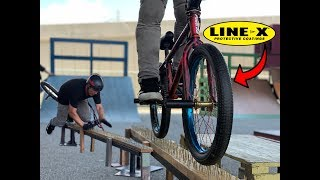 LINE-X BMX TIRES VS SCREWS----THIS DOESEN'T END WELL FOR ME!