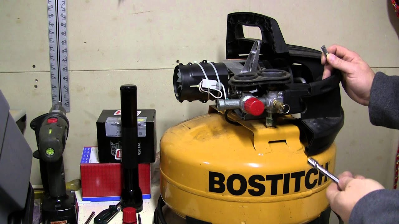 Bostitch Compressor Cover Removal Remove Youtube