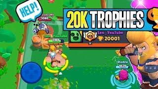 Bulldozing my way past 20,000 Trophies in Brawl Stars | New record!!