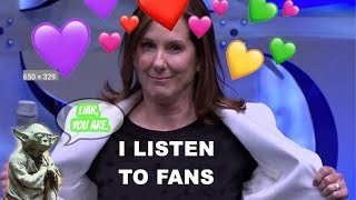 Kathleen Kennedy and Lucasfilm Out Of Touch, Claim They Listen To Fans!