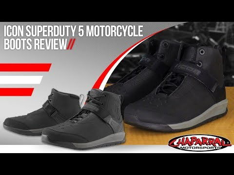 14 Black Icon Motosports SUPERDUTY 5 Leather Motorcycle Riding Boots