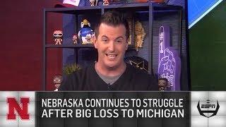 Reaction to Nebraska's 56-10 loss to Michigan   The College Football Show   ESPN
