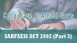 Sarfaesi act 2002 (part 3)   reconstruction companies   conditions for granting certificate