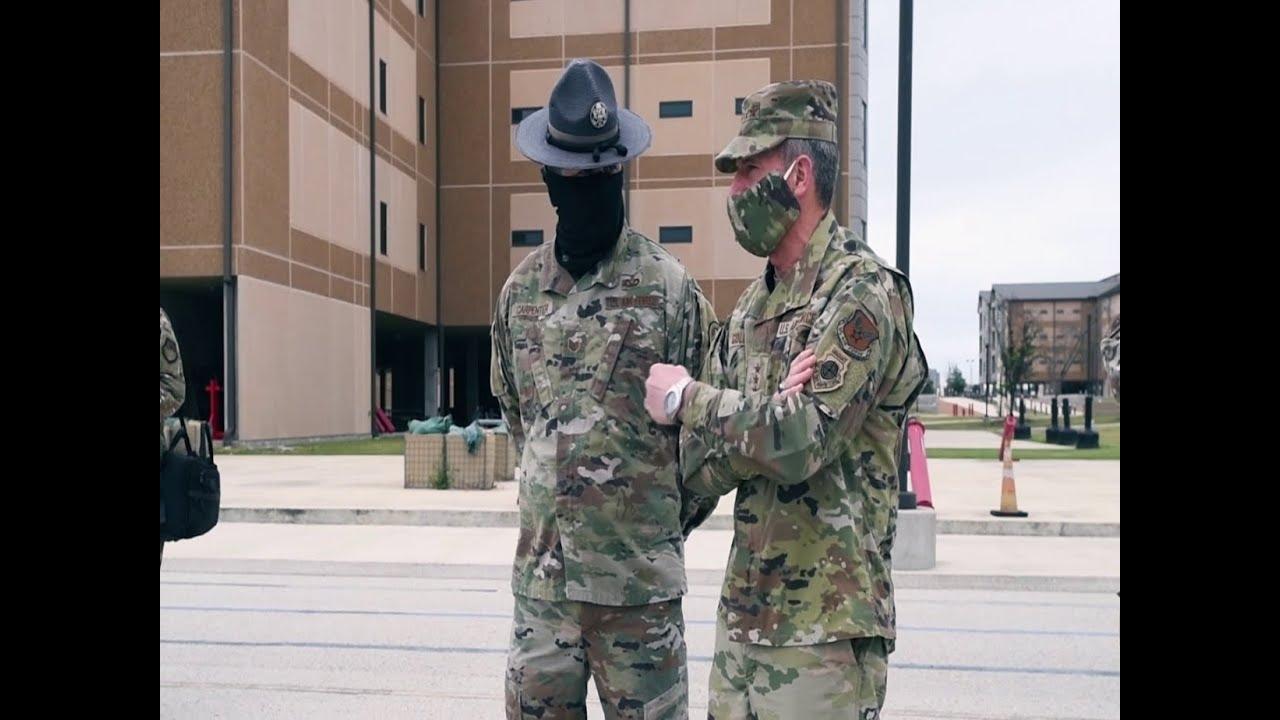 Gen Goldfein and CMSgt Piñeiro visit Basic Military Training
