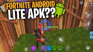 FORTNITE ANDROID LITE FOR LOW RANGE (32 BITS)!! / DOES IT REALLY EXIST ?? / FORTNITE ANDROID LITE APK