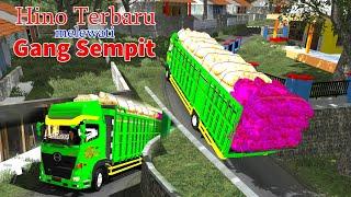 Truk Muatan Sayur Setor dari plosok ke Pasar ||  trucks carry vegetables through narrow streets