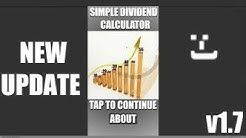 Google Play Stock Market App - Simple Dividend Calculator Update 1.7