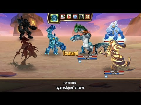 Monster Legends - White Walker level 1-130 combat arena review :v