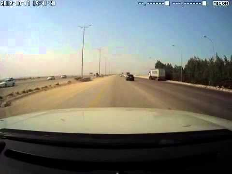 Saudi Arabia - cam recorded an accident